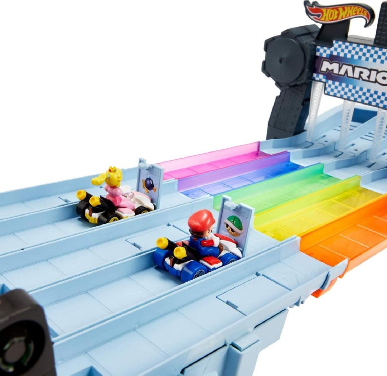 Pista Hot Wheels Mario Kart Rainbow Road