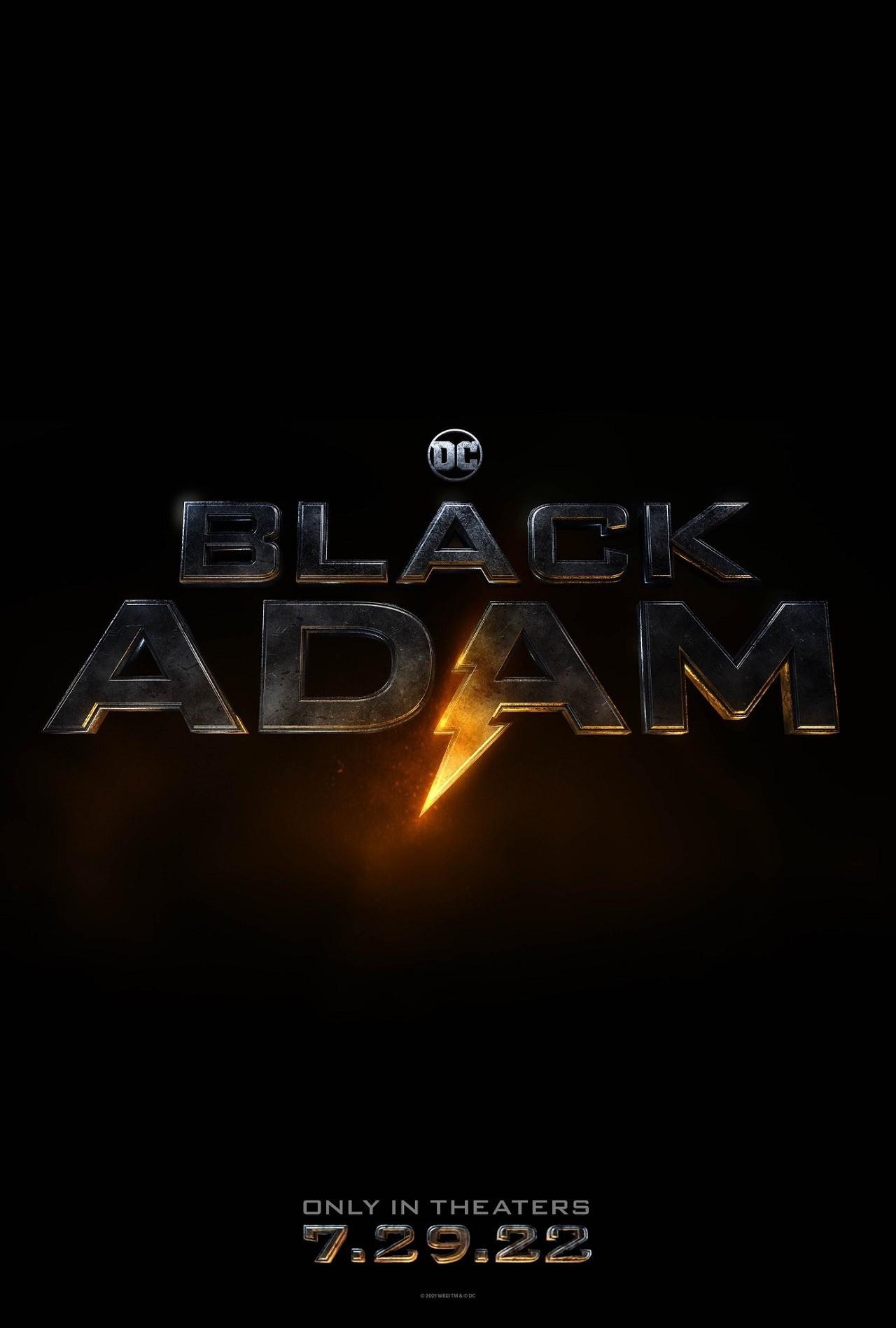 Black Adam Fecha de Estreno Póster Película Dwayne Johnson