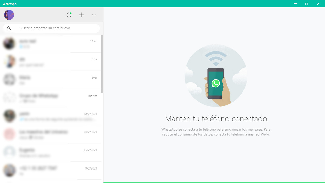 whatsapp desktop interfaz configuración computadora