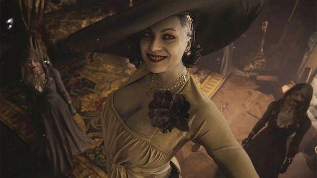 Lady Dimitrescu Yekaterina Lisina Cosplay Resident Evil Village 2 metros