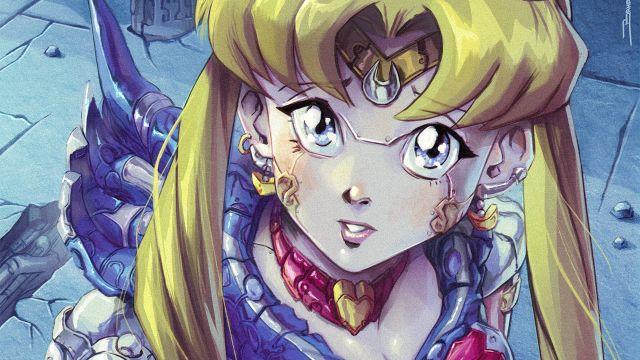 Sailor Moon armadura Ilustración
