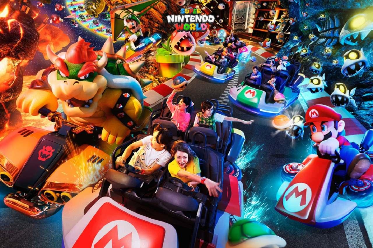 Juego de Mario Kart en Super Nintendo World