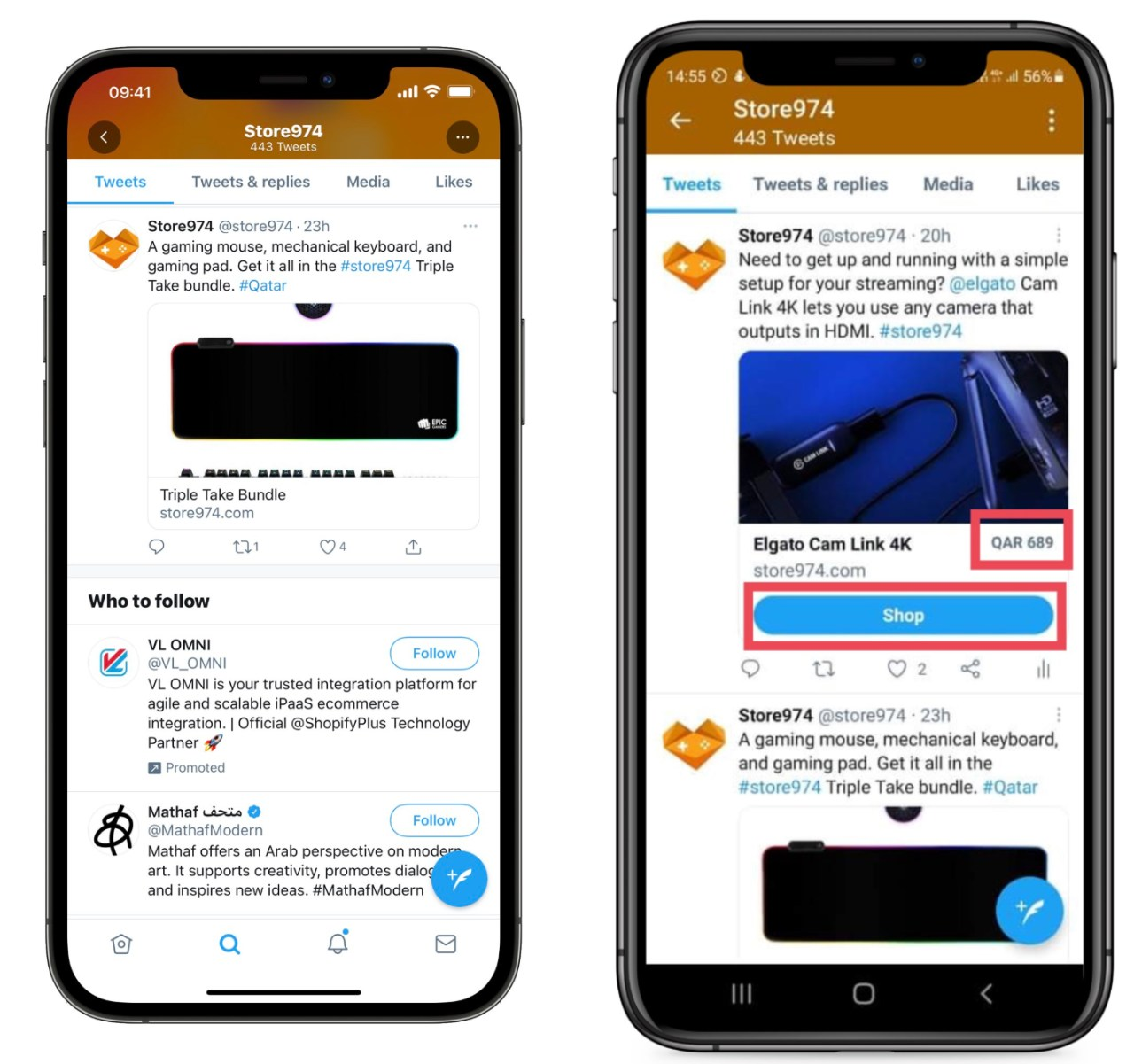 Twitter agregará un botón de comprar online