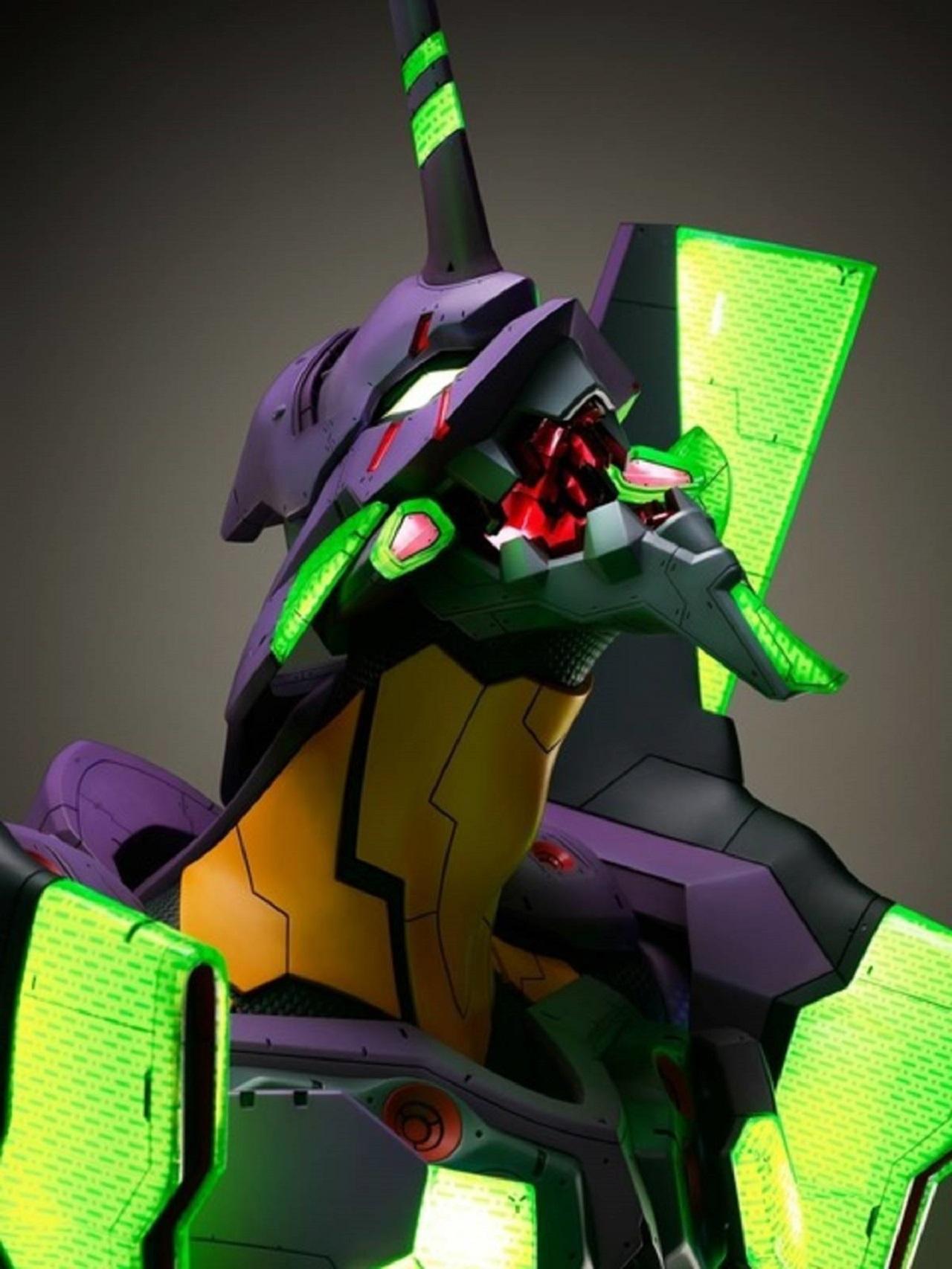 Estatua de Tamaño Humano de la Unidad 01 de Evangelion