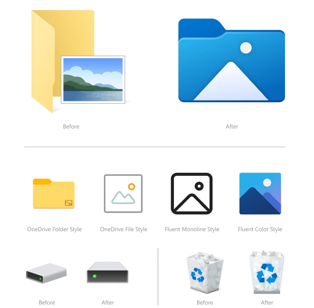 Windows 10 carpetas amarillas próxima actualización