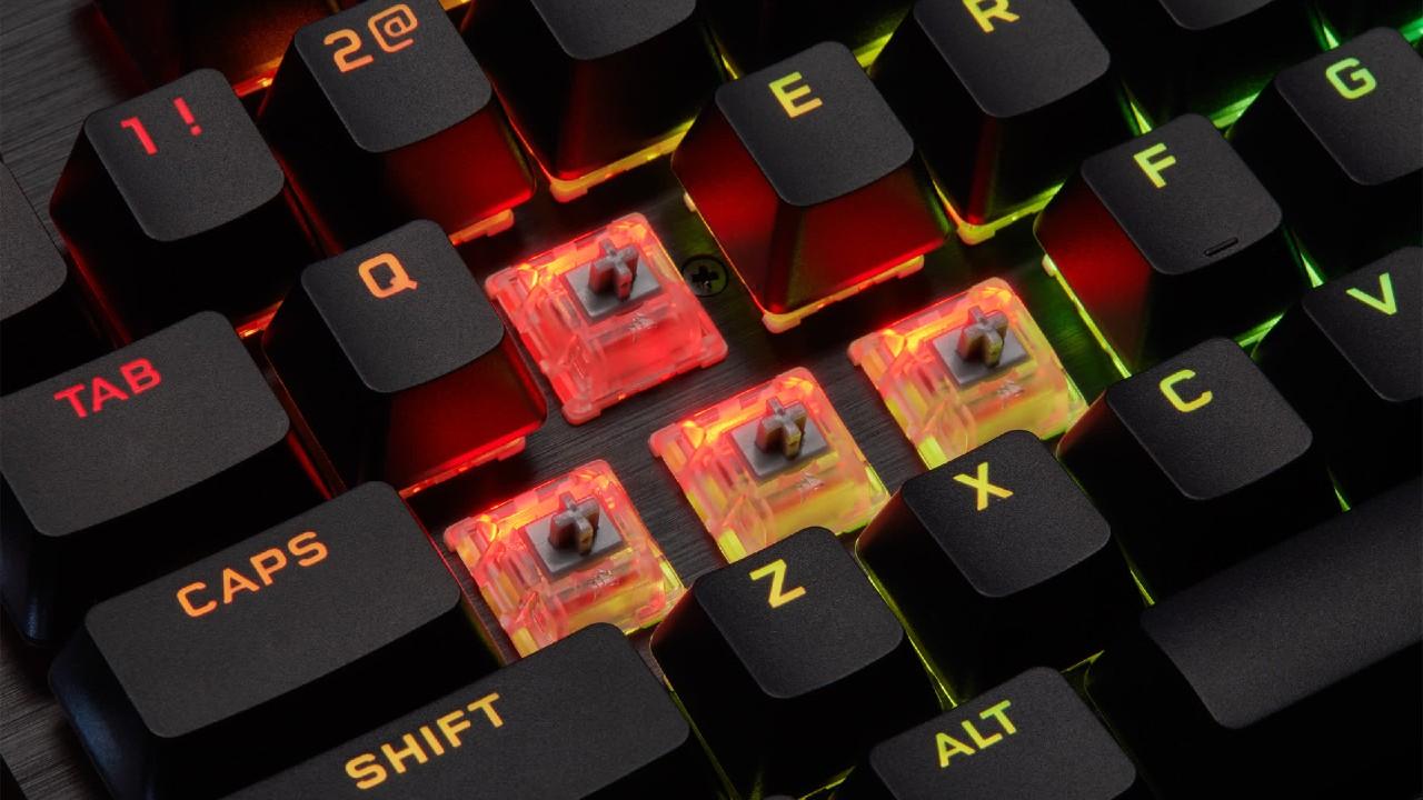 corsair teclado gamer switch optico