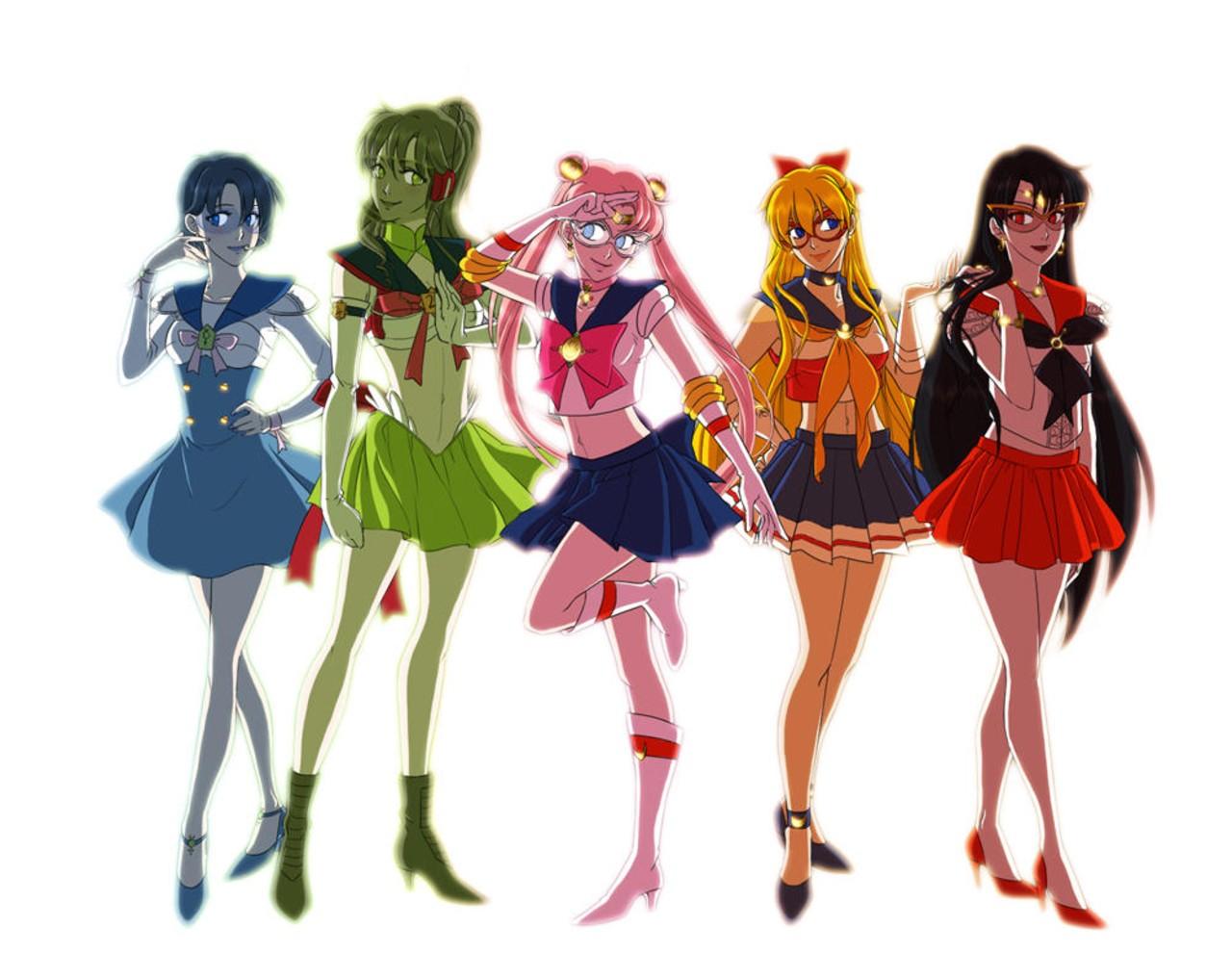 Sailor Moon: Fan art recrea el primer boceto de las Sailor Scouts y el resultado es sorprendente