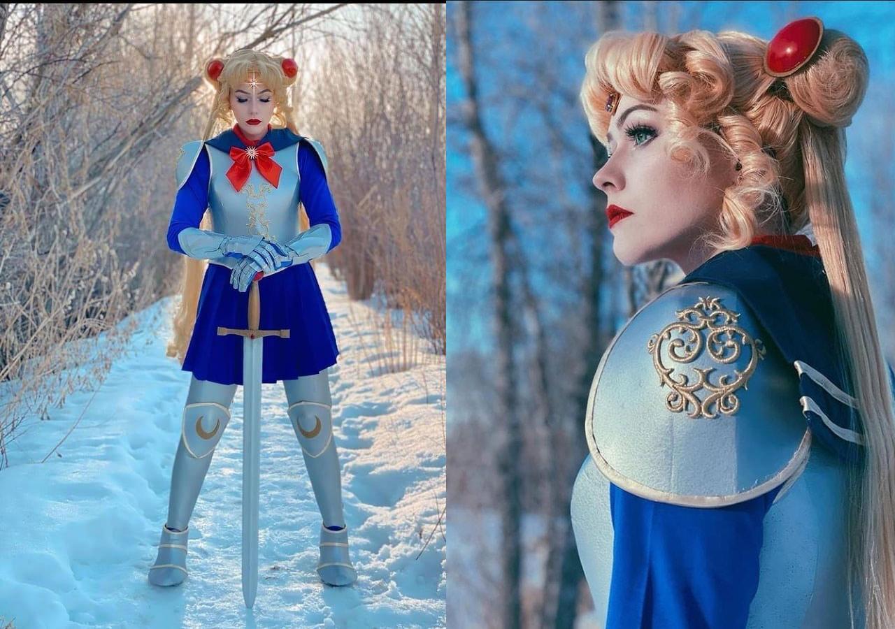 Sailor Moon cosplay armadura Serena