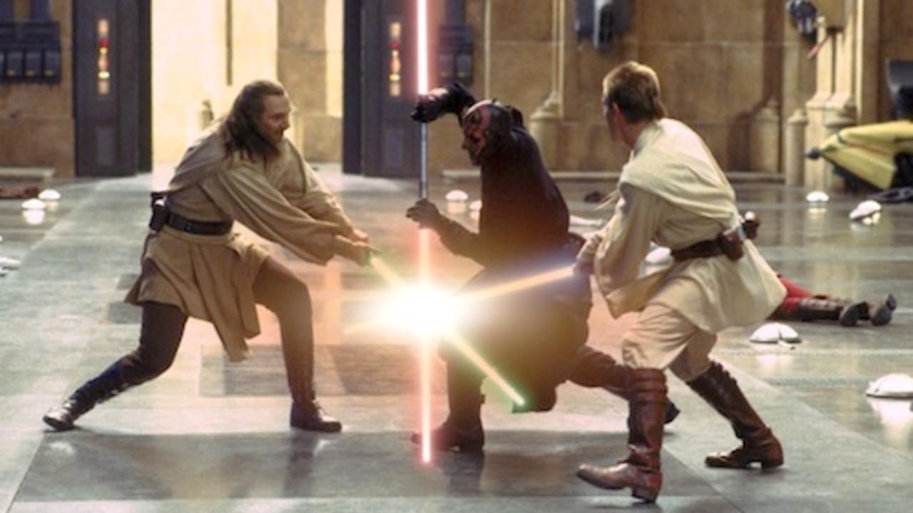 star wars pelea obi wan qui gon jinn darth maul