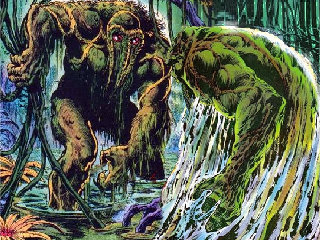 dc comics marvel swamp thing man-thing