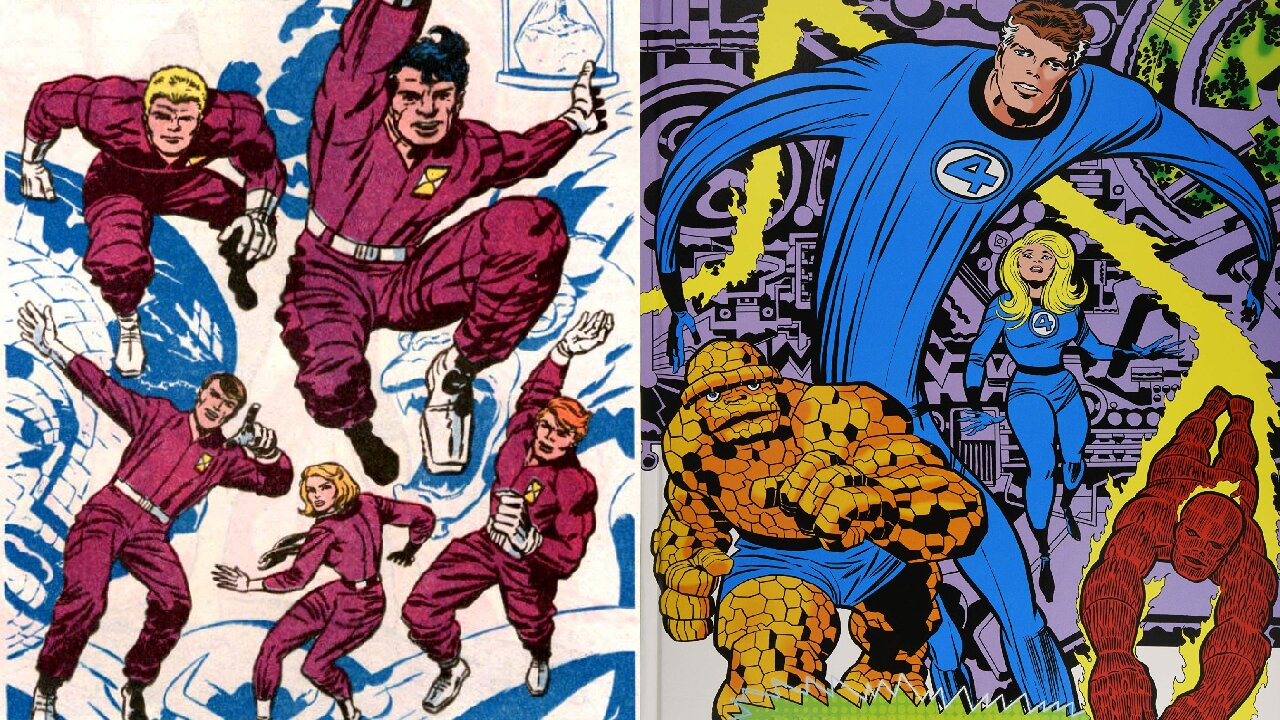 challengers of the unknown fantastic four marvel dc comics