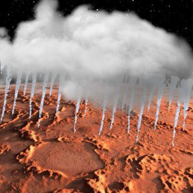 Marte: Extrañas nubes congeladas pudieron haber mantenido caliente a el Planeta Rojo y sus ríos activos