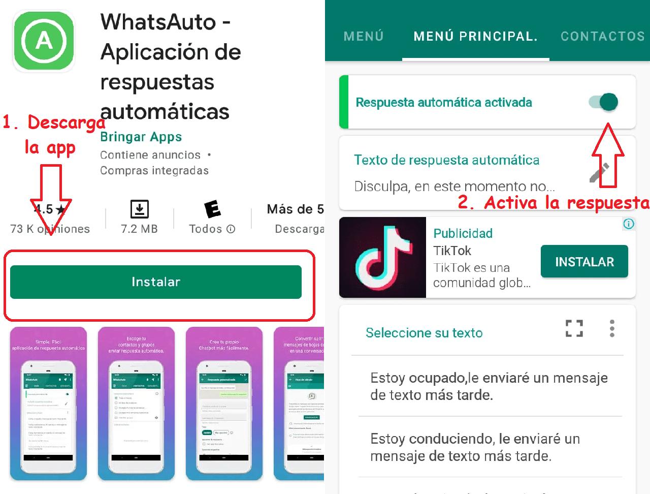 whats auto descargar respuestas automáticas whatsapp
