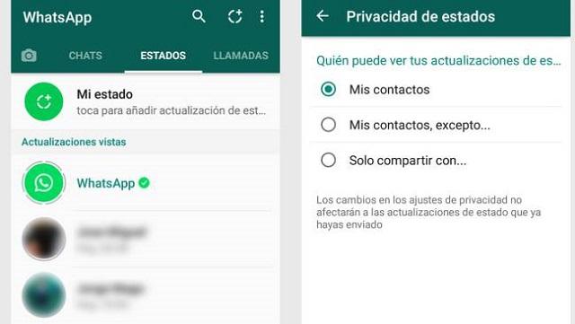 Estados de WhatsApp Servicio de Mensajería Estados
