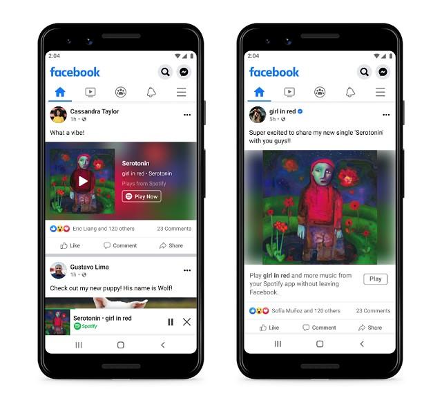 Spotify Mini Reproductor Facebook Nueva Intengración Spotify Facebook