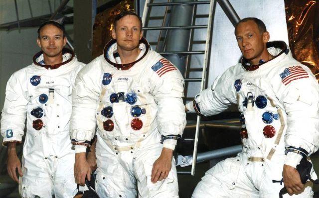 Collin, Armstron y Aldrin en la misión Apolo 11