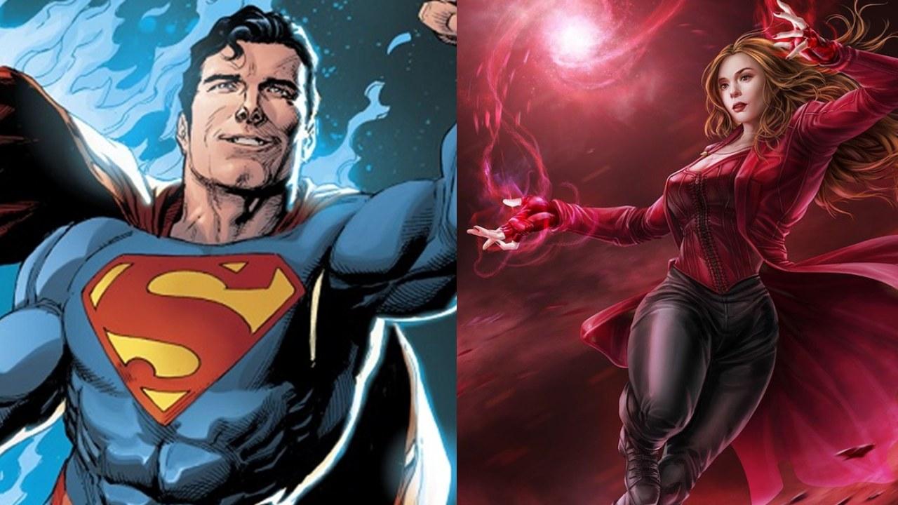scarlet witch contra superman quien ganaria