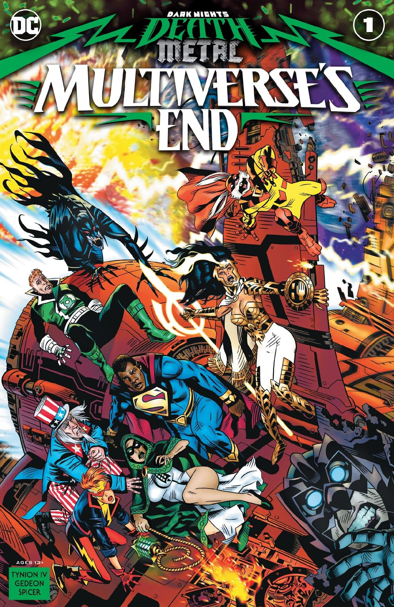 dc comics superman negro multiverse's end