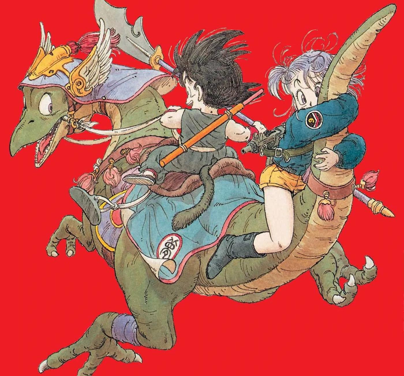 dragon ball bulma goku diseño manga original