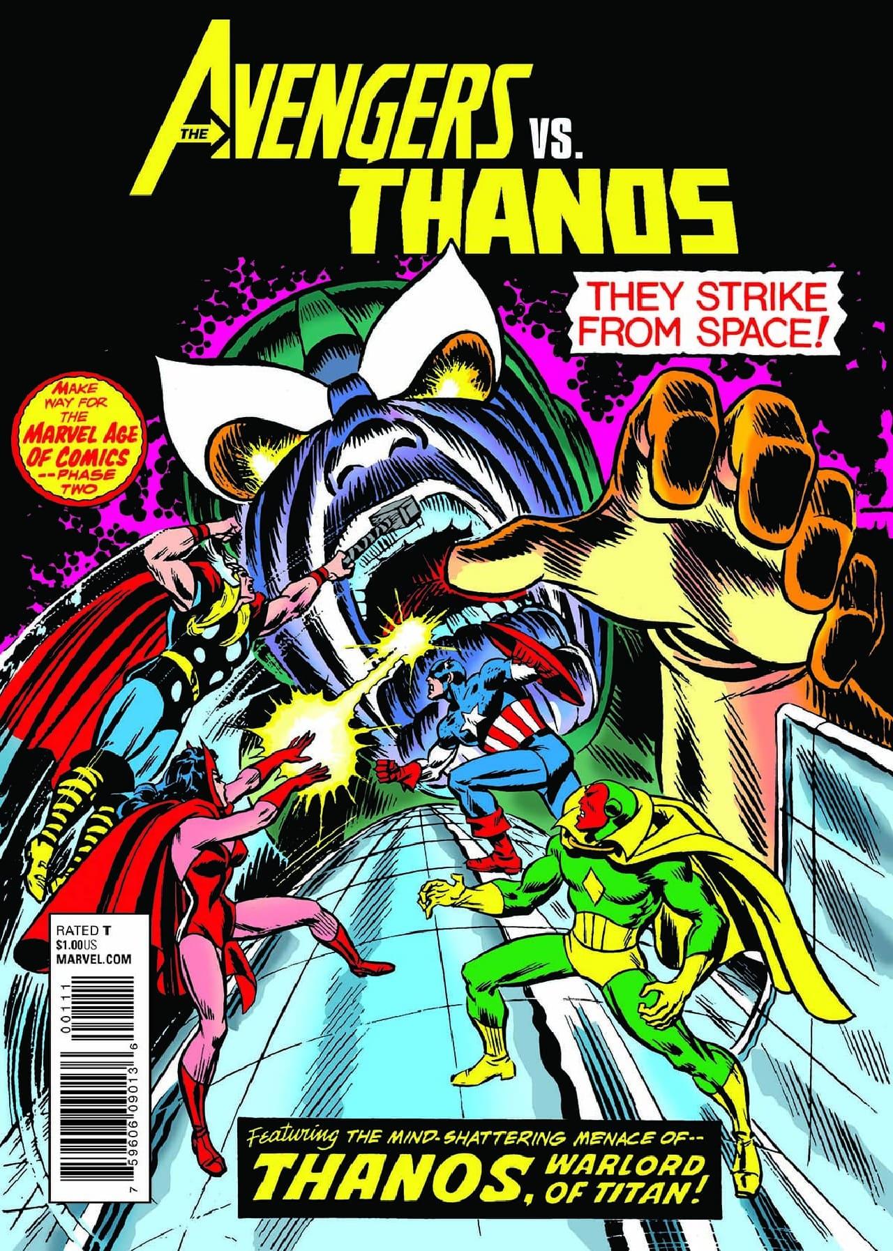 thanos avengers cubo cómics historietas