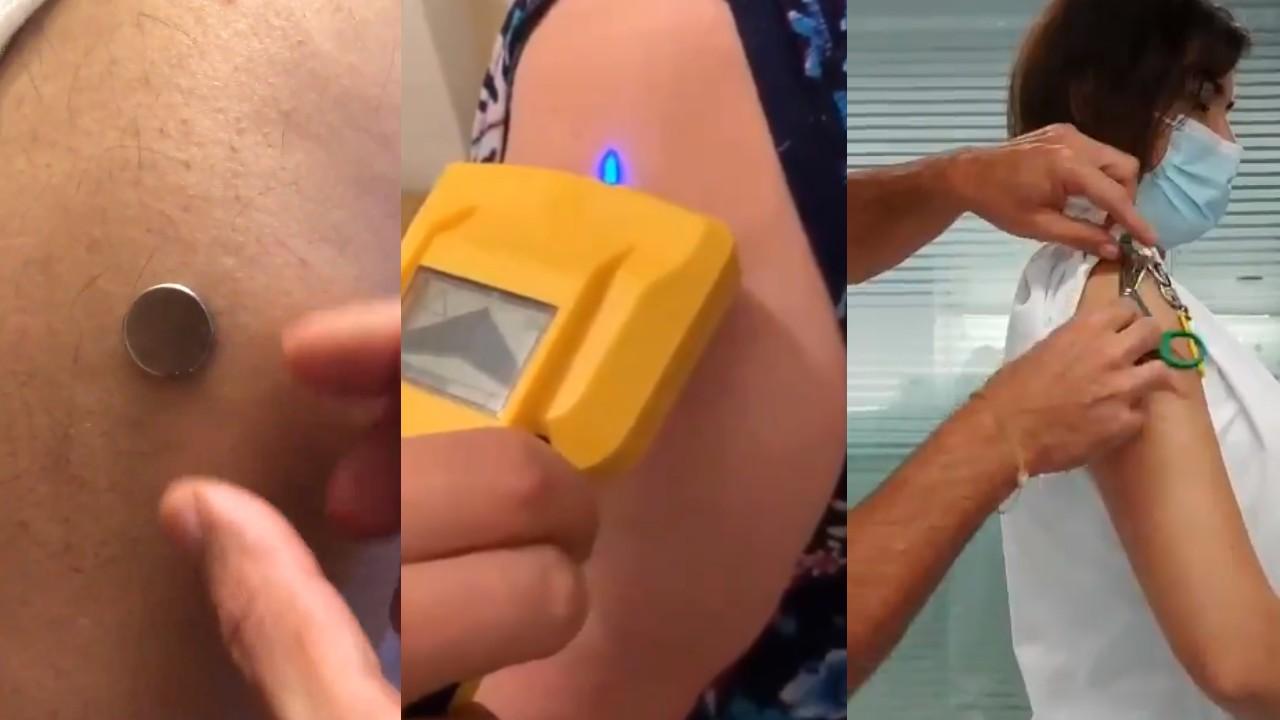 Vacunas covid19 magnetismo magneto prueba iman