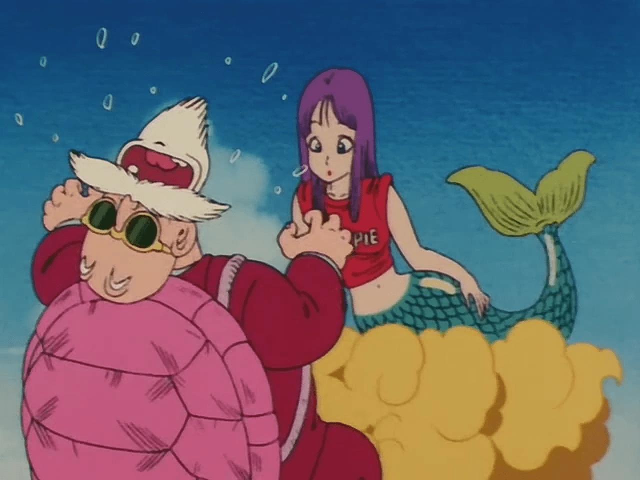 roshi sirena dragon ball maestro pervertido
