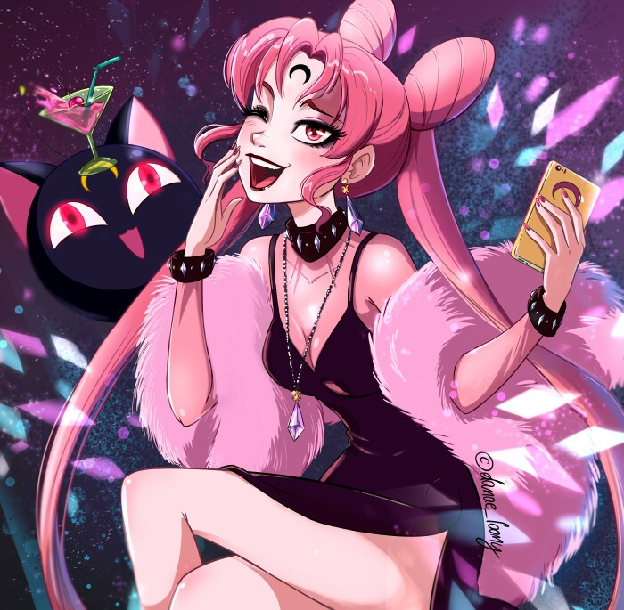 Sailor Moon: Fan art recrea a Black Lady con un estilo sin igual
