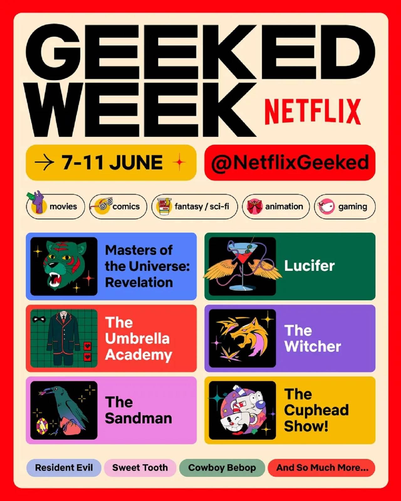 Netflix Anuncios Geeked Week