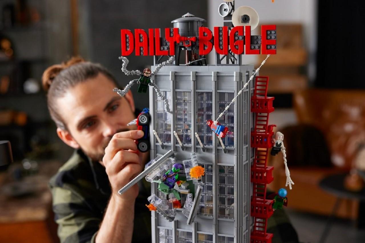 Set de Lego Spider-Man Marvel Cómics Daily Bugle