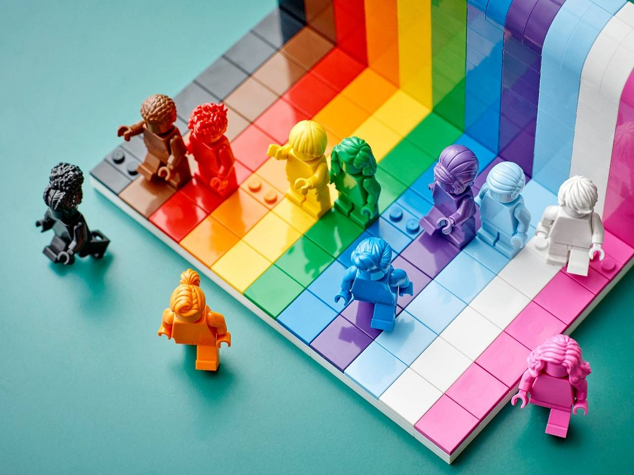 Set de LEGO Comunidad LGBT Mes del Orgullo LGBT