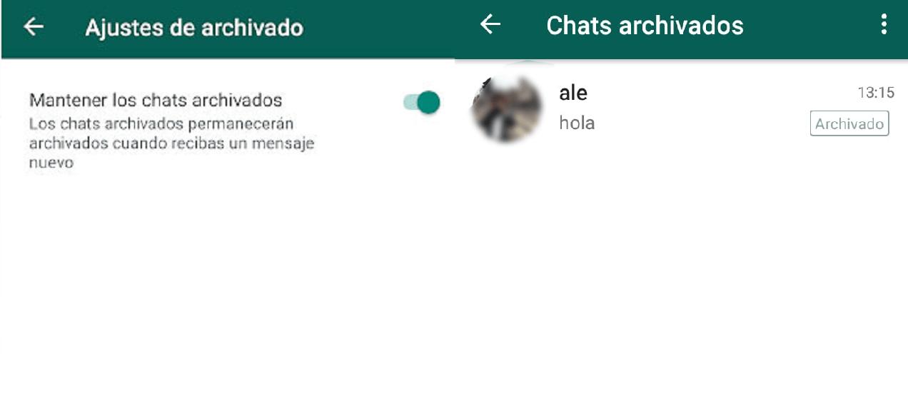 archivar whatsapp instructivo función app