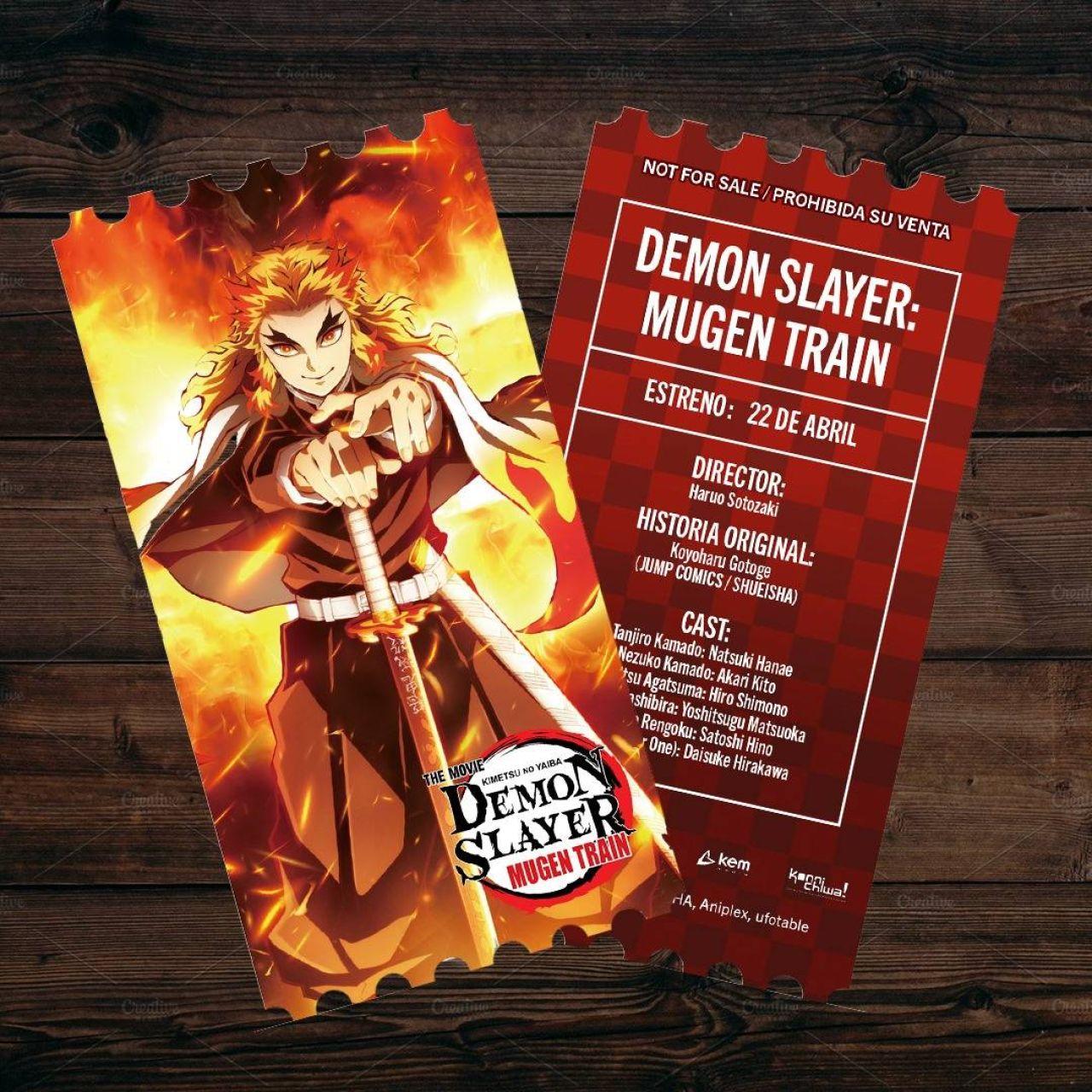 demon slayer mugen train boletos edicion especial