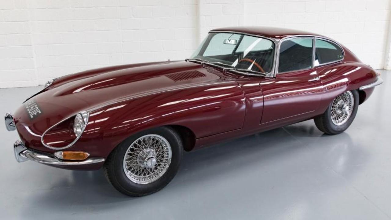 auto clasico jaguar electrico convertido tipo e