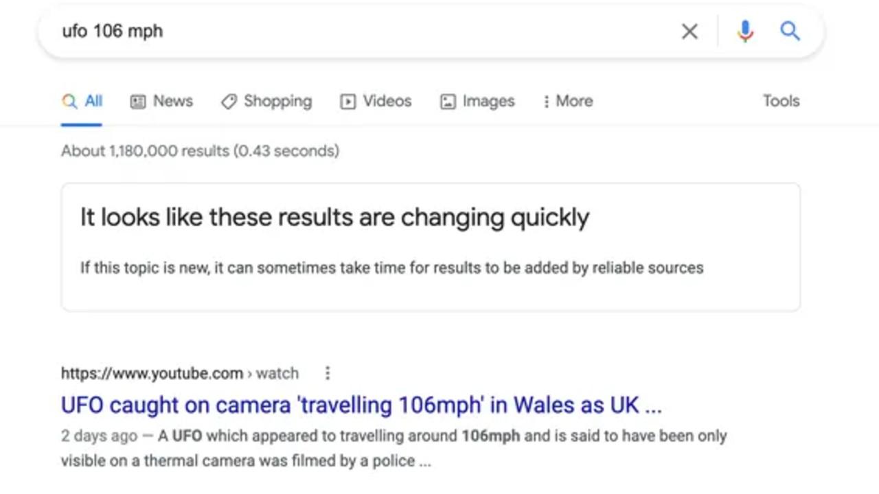 aviso de google informacion falsa