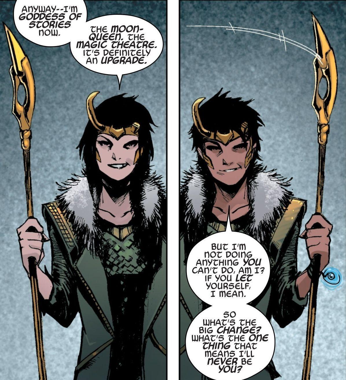 Lady Loki marvel serie género fludio