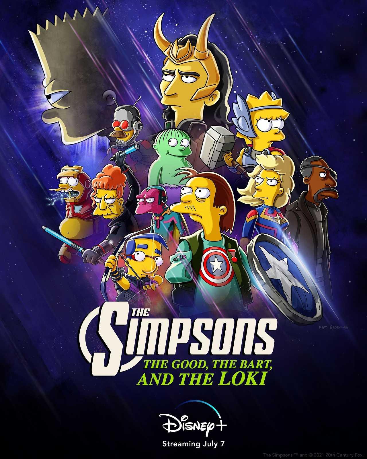 Los Simpson Marvel Loki Especial Disney+