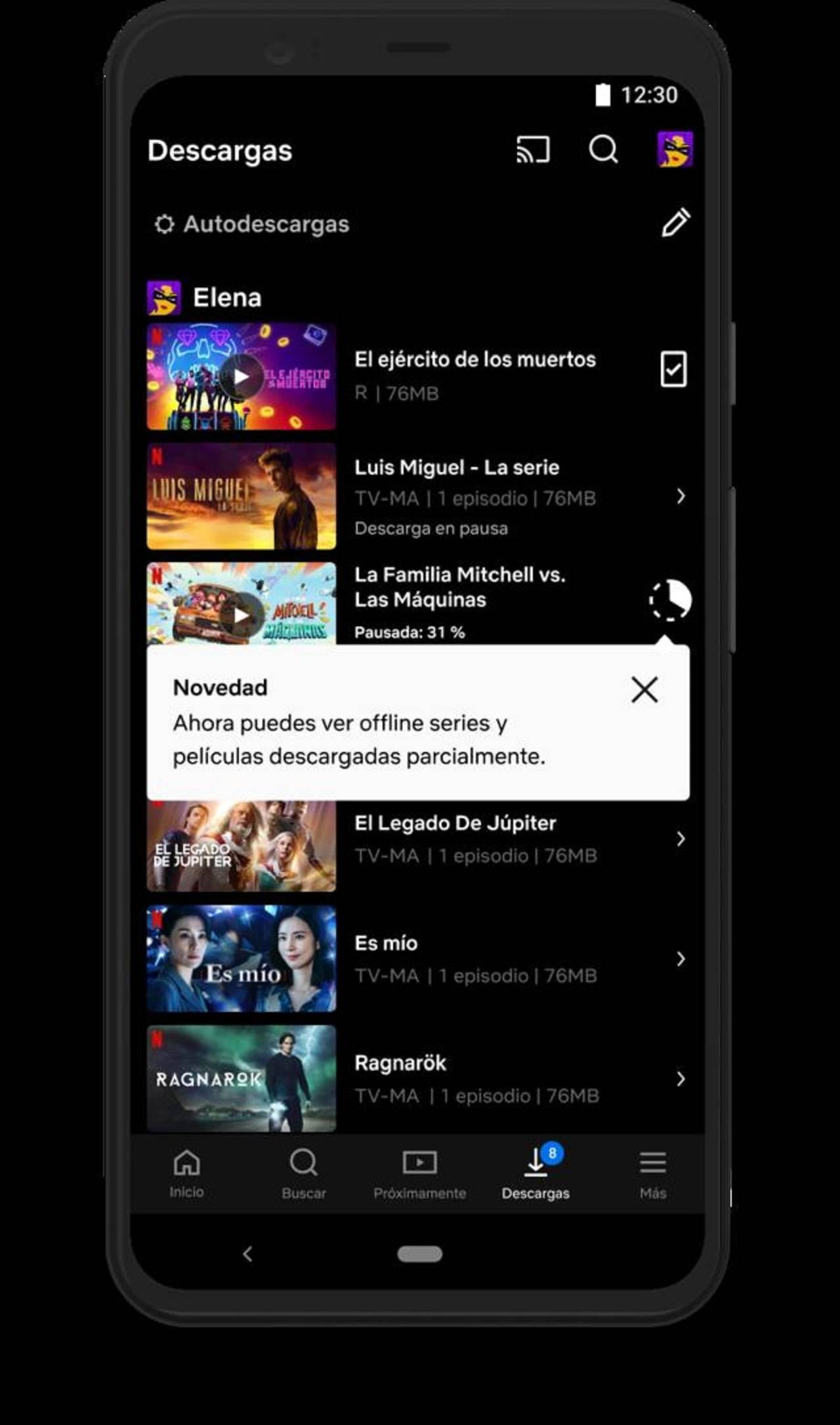 Netflix Descargas Parciales Nueva Función