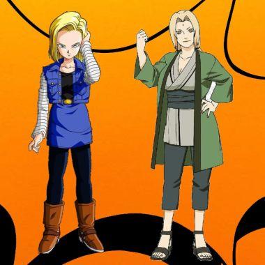 Dragon Ball_ Fanart fusiona a Androide 18 y a Tsunade de Naruto teniendo este asombroso resultado