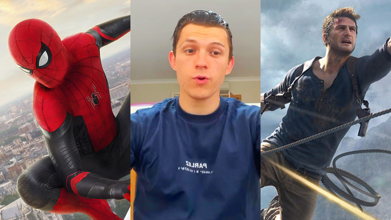 tom holland spiderman uncharted trailer