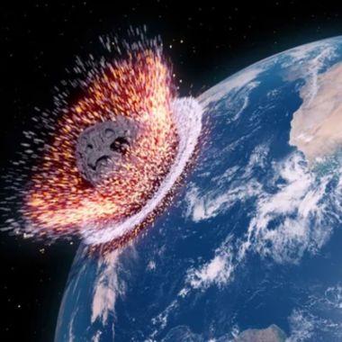 asteroide choca con la tierra