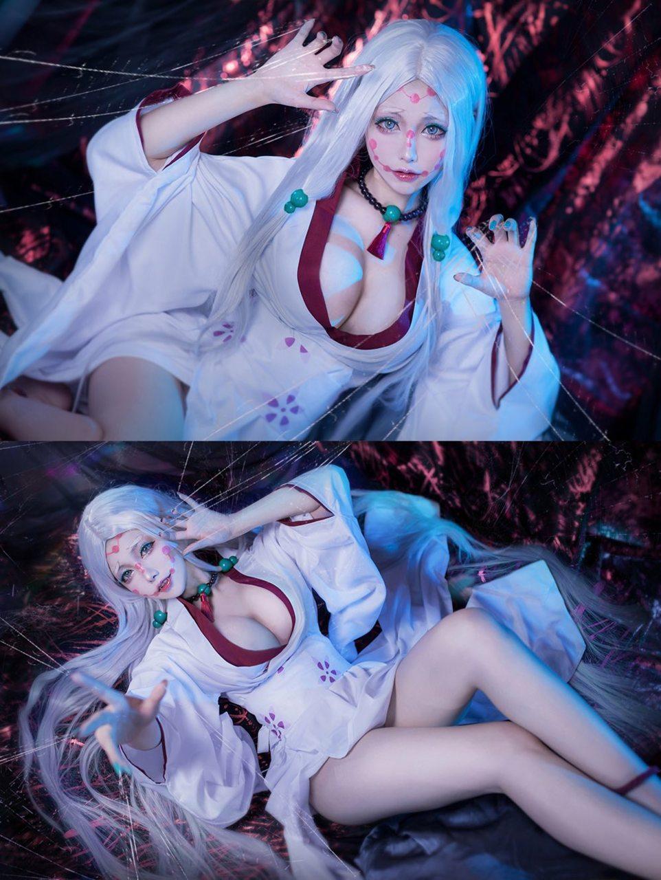 kimetsu no yaiba cosplay demonio