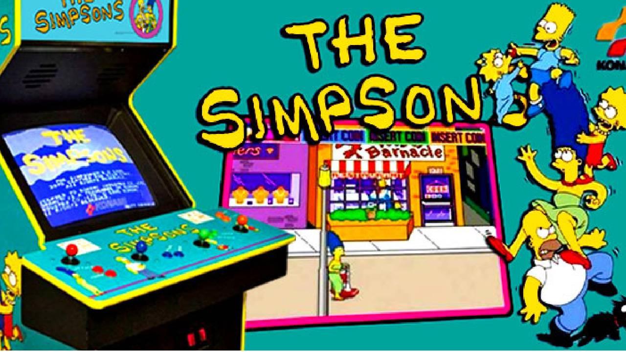 los simpson arcade konami videojuego