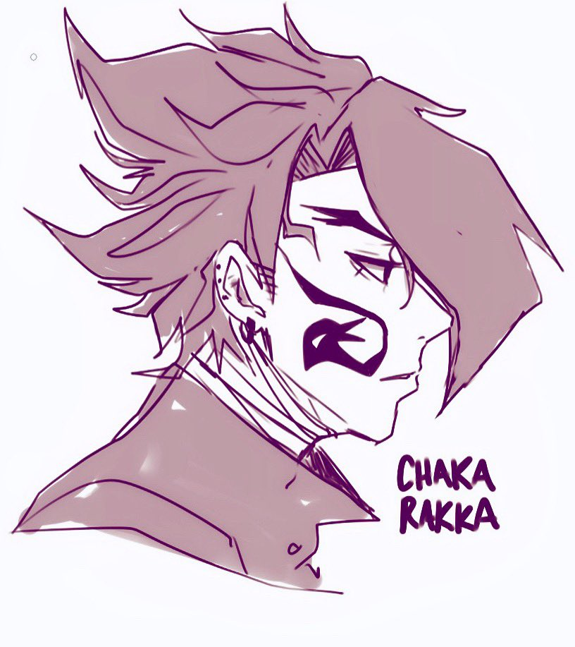 Tokoyami humano fanart my hero academia Chaka Rakka