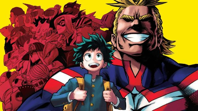 personajes de my hero academia manga color