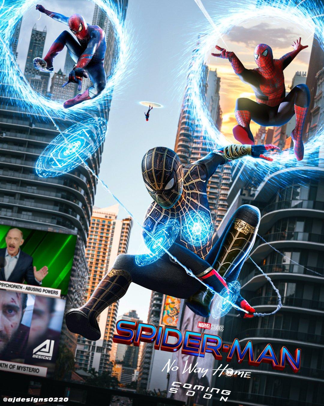 spiderman no way home postar fan