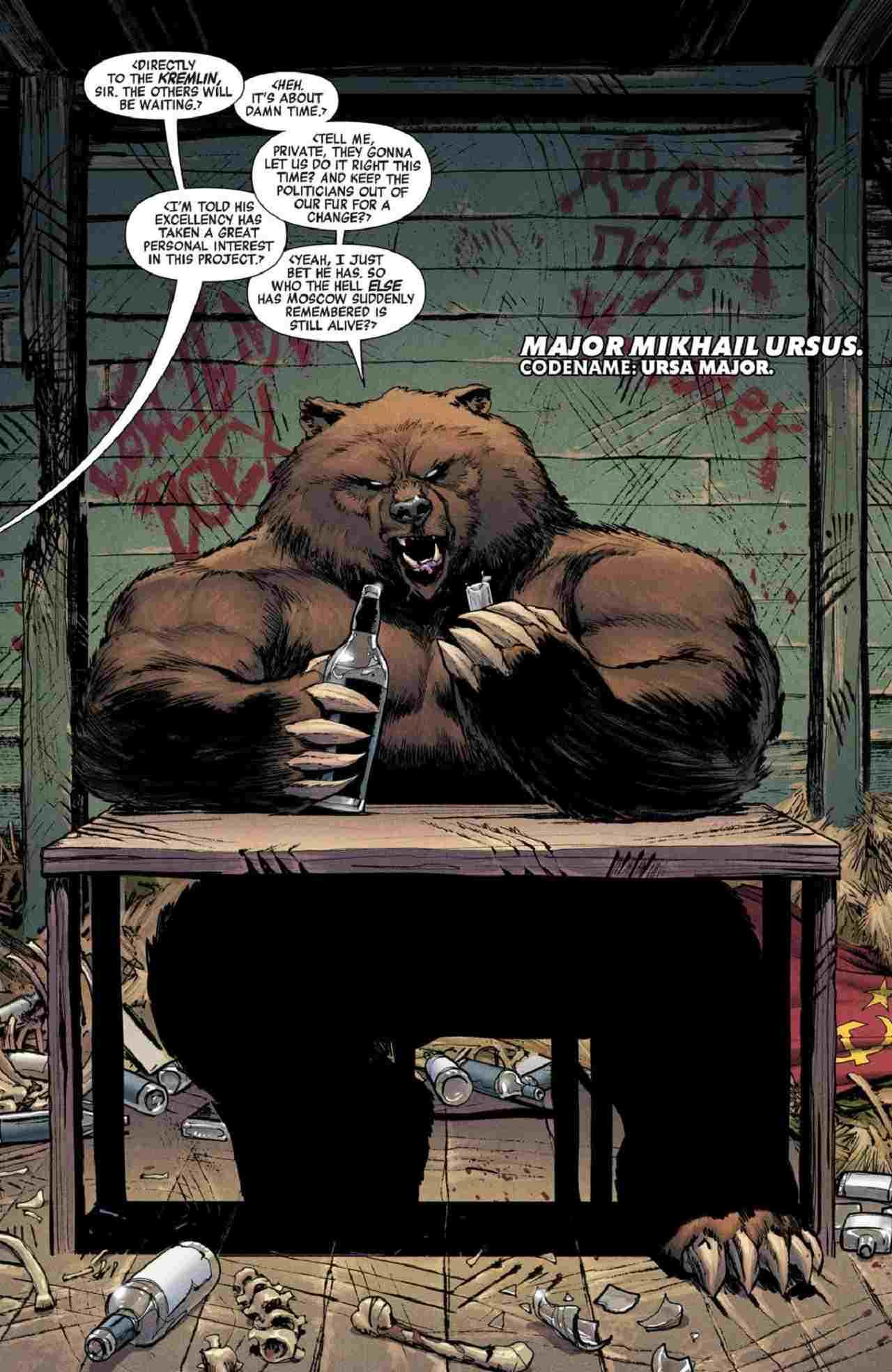Black Widow Película Personajes de Marvel Quien es Ursa Major Oso