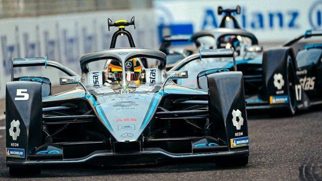 mercedes benz carreras formula e autos eléctricos