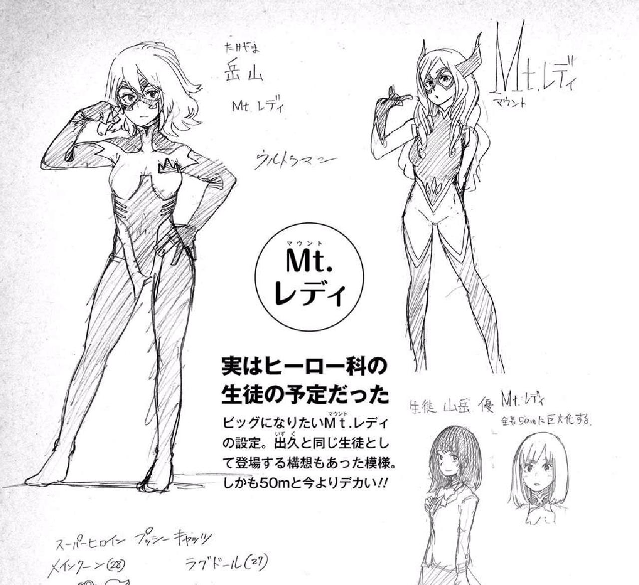 personajes de my hero academia bocetos