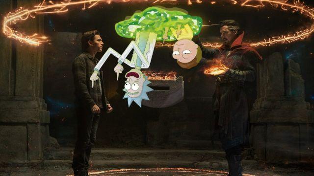 Rick & Morty union spiderman no way home fanart