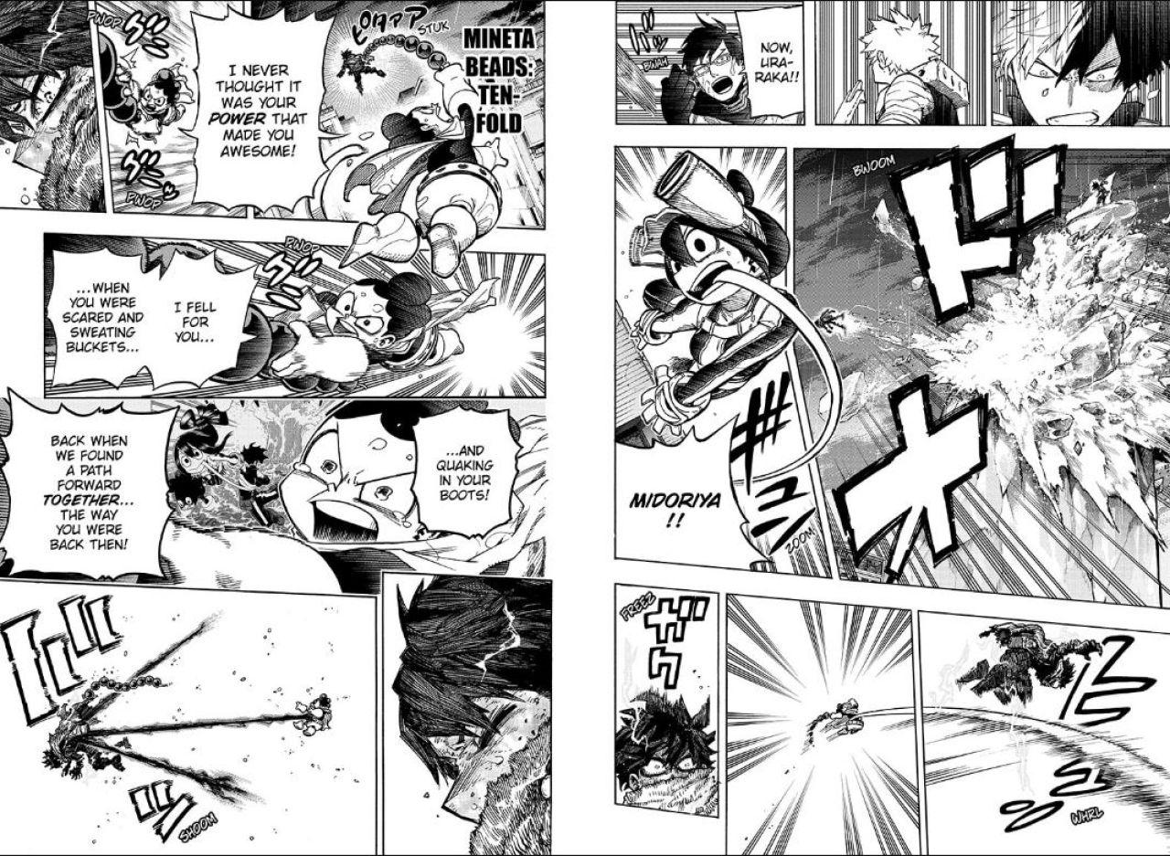 mineta boku no hero academia manga 321
